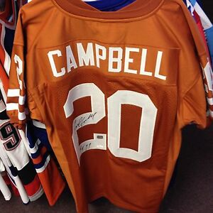 cheap for discount 14325 ad549 Details about Earl Campbell Texas Longhorns Auto Authentic Jersey Autograph  w/ JSA COA