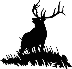 Elk on Hill Vinyl Decal Your Color Choice Sticker