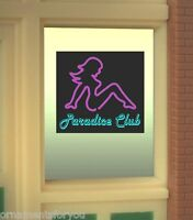 Miller's Paradice Club Animated Neon Window Sign 8850 O Scale