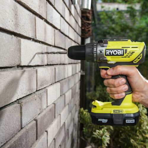 Cordless 1.3A 18V Brushed Percussion drill 2 batteries R18PD3-213S Ryobi ONE