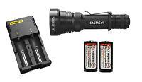 Eagletac S200c2 Led Flashlight + 2x 16340 750mah Battery + Nitecore I2 Charger