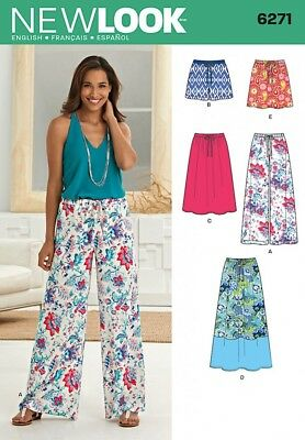 New Look Ladies Easy Sewing Pattern 6381 Jersey Knit Skirts... Free UK P/&P