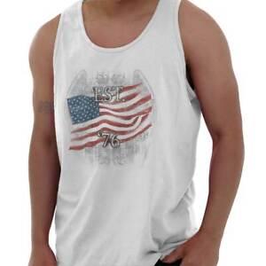Drapeau-americain-USA-Patriotic-Etats-Unis-adulte-Tank-Top-T-Shirt-Tees-T-Shirt