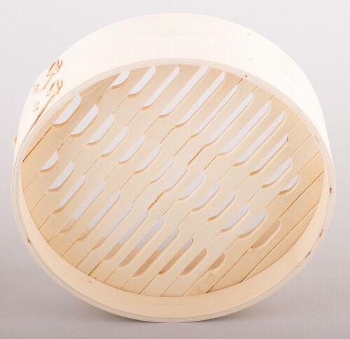 3 tlg Bambusdämpfer 25 cm Dämpfaufsatz Bambus Steamer Dämpfer Dampfgarer Bamboo