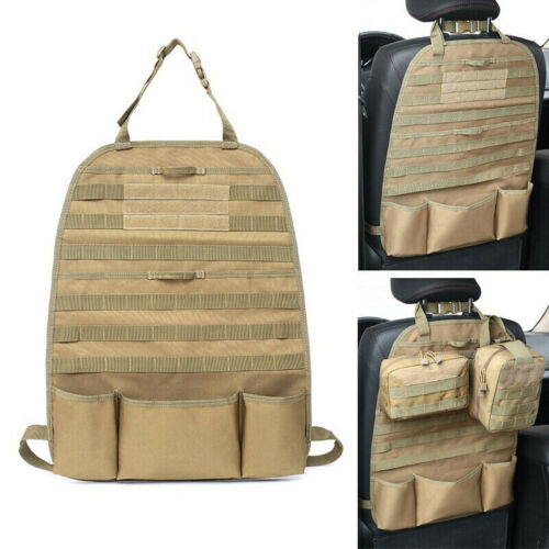 Seat Cover Tactical Molle Organizer Car Seat Cover Back Holder Pouch Black Tan