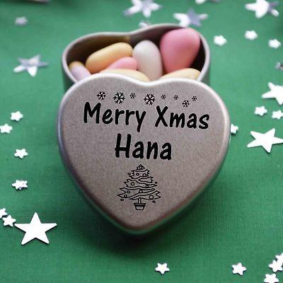I Love You Chris Mini Heart Tin Gift For I Heart Chris With Chocolates