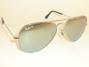 ray ban aviator sunglasses price  New Ray Ban Aviator Sunglasses RB 3025 019/W3 Polarized Silver ...