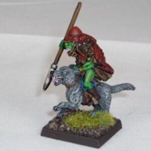 Goblin-wolfrider-con-Yari-Warhammer-Fantasy-Esercito-28mm-non-dipinti-Wargames