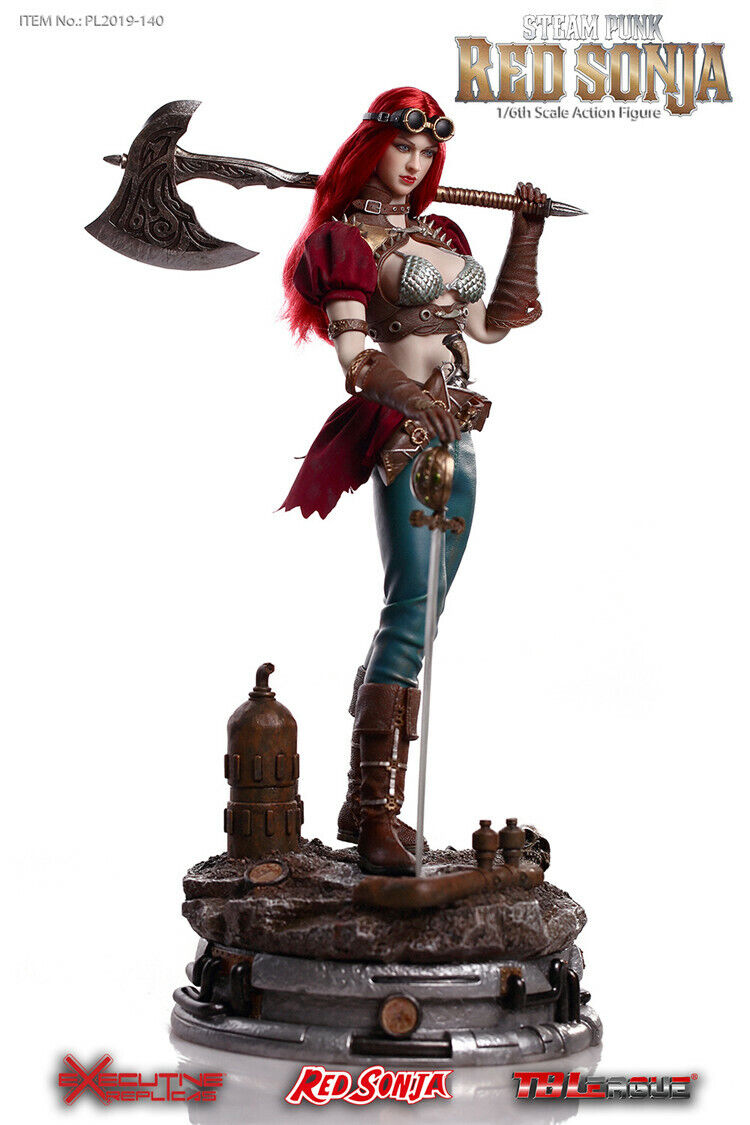 1 6 TBLeague PL2019-140-B Steam Punk Red Sonja Action Figure Deluxe Version