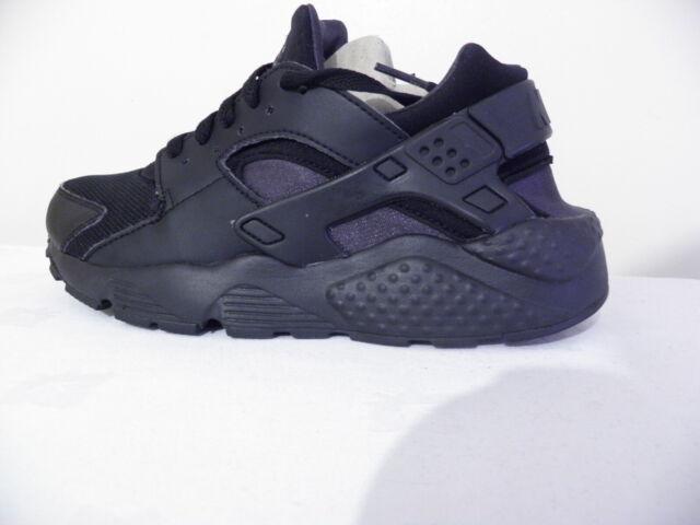 Nike Air Huarache Run (GS) all Black Size UK 5.5 EUR 38.5 (654275 020)