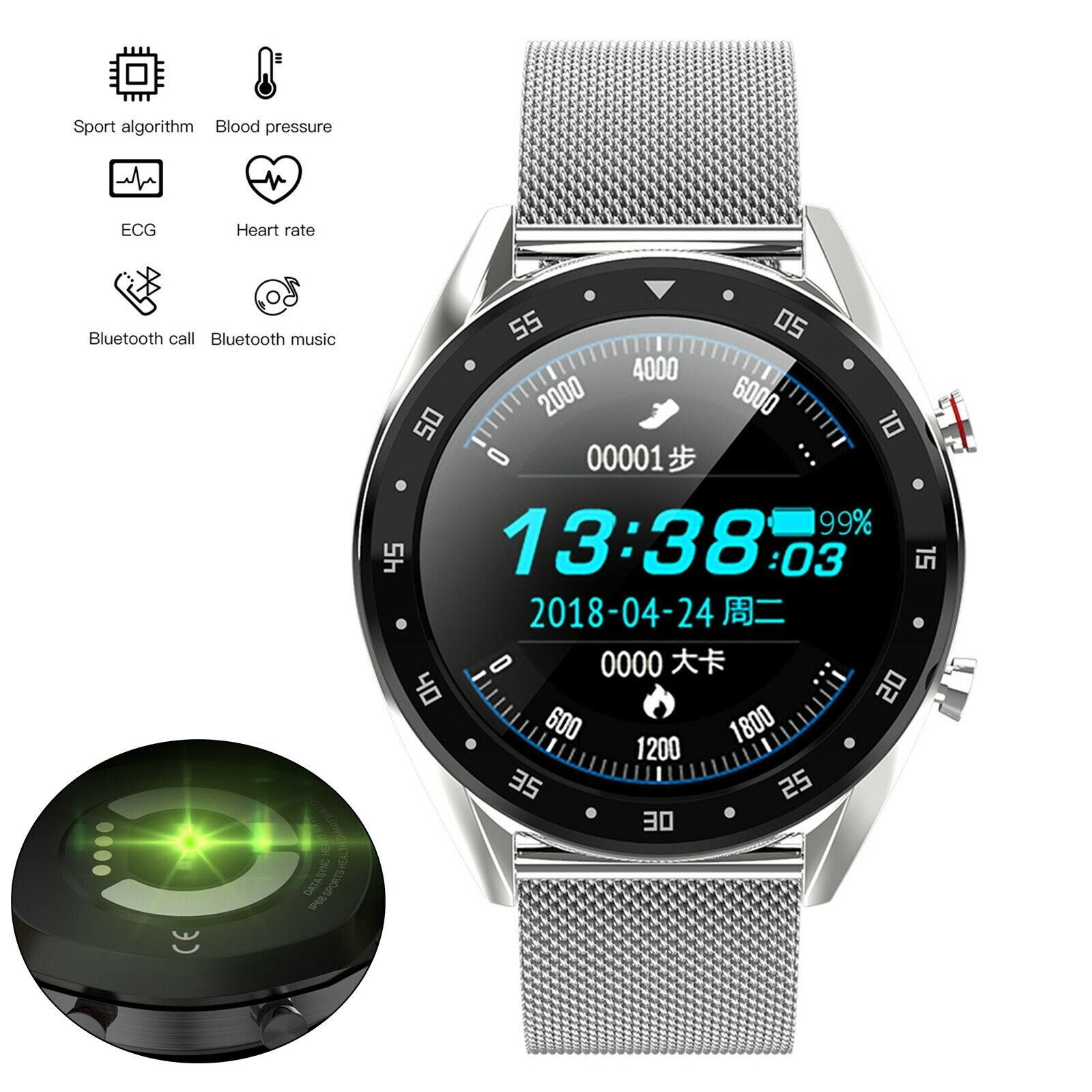 Bluetooth SmartWatch Remote Camera Blood Pressure Monitor Phone Mate for Android blood bluetooth camera Featured for mate monitor phone pressure remote smartwatch