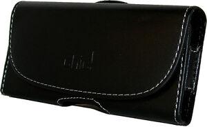 codice promozionale 4ac3e 5d6ca Dettagli su CUSTODIA Universale per Smartphone 125 62 9 mm ECO PELLE NERA  Passante Cintura