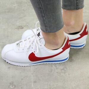 NIKE Cortez Basic Damen Sneaker Weiß Schuhe, |