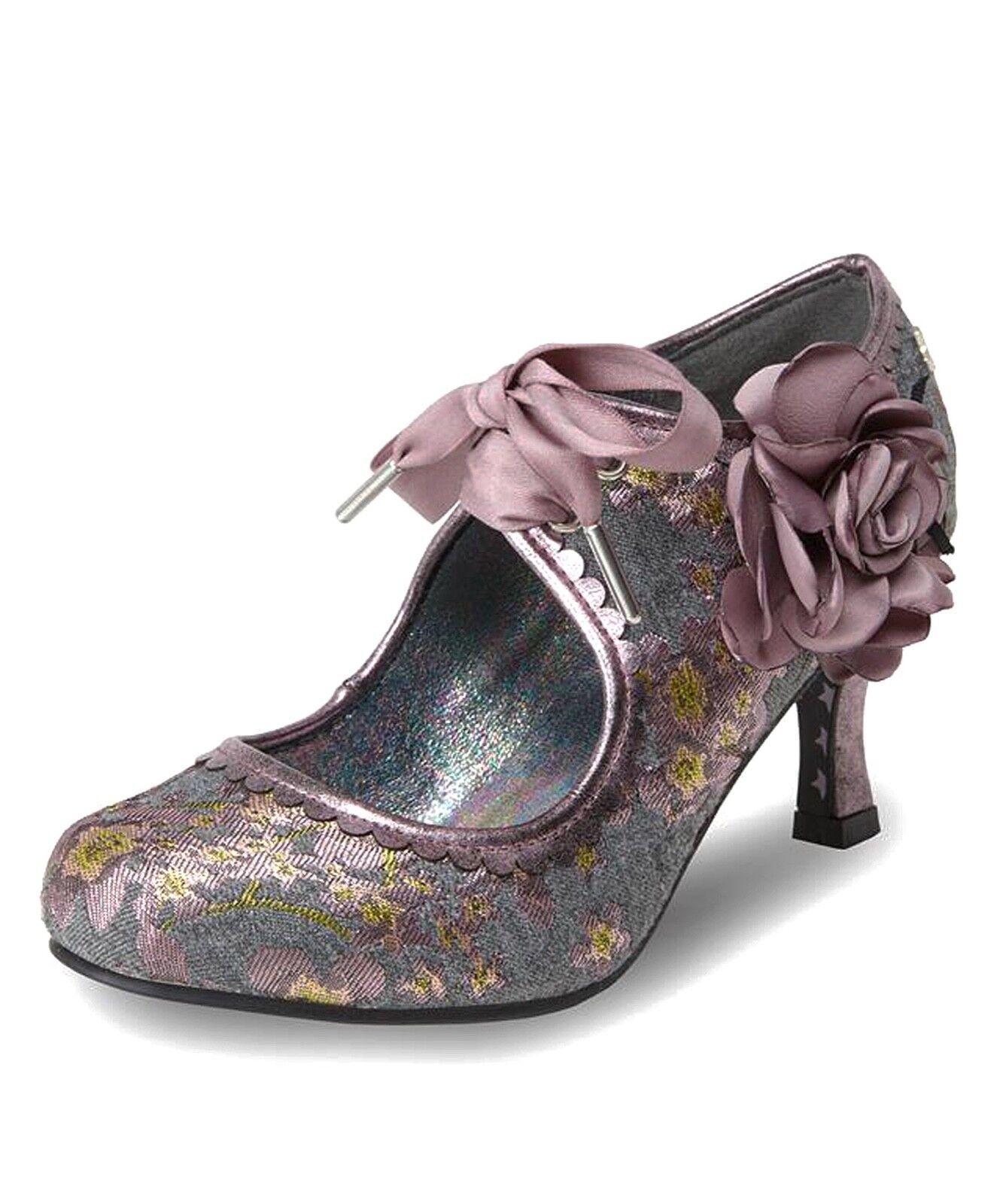Joe brauns NEW Orla grau tweed lilac floral high heel lace up fashion schuhe 4-8
