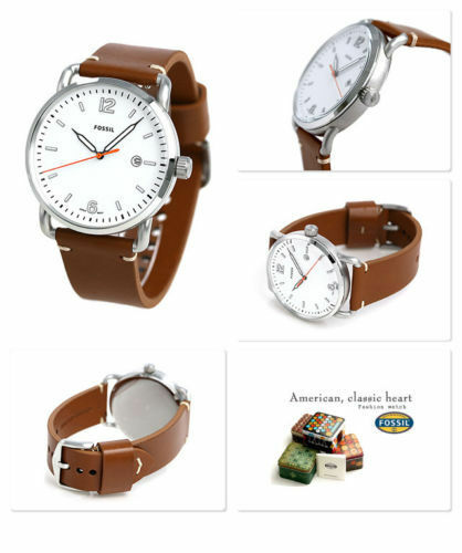 33e007b3976 Fossil Men s The Commuter Date Light Brown Leather Watch FS5395 for sale  online