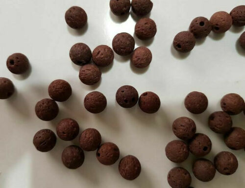10 perles semi précieuses gemmes PERLES DE LAVE 8mm MARRON FONCE ////49