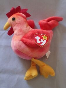 4237e0319b9 Image is loading Ty-Original-Beanie-Baby-Strut-The-Rooster