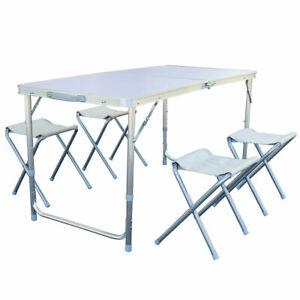 B-Ware-Camping-Set-Alu-Picknick-Sitzgarnitur-Campingtisch-Campingmoebel-Tisch