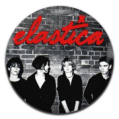 Elastica Band Brit Pop Rock 25mm 1 Inch D Pin Button Badge