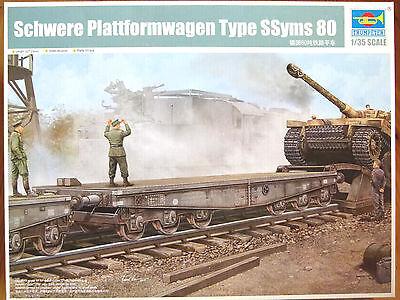Trumpeter 1:35 Schwere Plattformwagen Type SSyms 80 Tank Transporter Model Kit