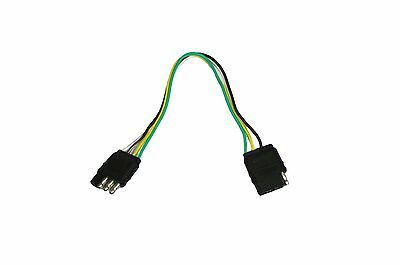 ABN Trailer Wire Extension 1' Foot 4-Way 4-Pin Plug Flat Wiring Harness Extender