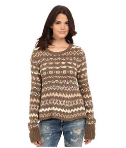 Taille M Pull Storm manches People à Free multicolore Nwt 128 longues The through q8w0c
