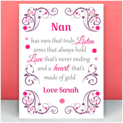 Gifts for Mum Mummy Nanna Nanny Auntie PERSONALISED Birthday Gifts for Her