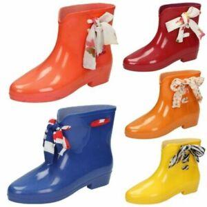 Ladies Spot On Wellington Boots Ankle