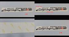 Mitsubishi Motor Sport RALLIART Spirit of Competition Sticker Decals Lancer Evo