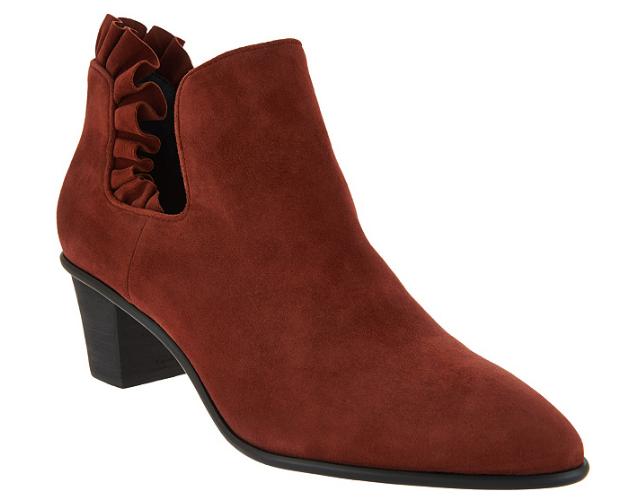 Lori orostein Colección botas rojowood al Tobillo Bota Con Detalle De Volantes rojowood botas Gamuza 10 24e1b3