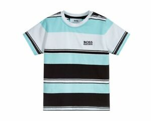 große Vielfalt Stile 50-70% Rabatt noch nicht vulgär Details about Hugo Boss Baby's J05714 V50 Striped T-Shirt Light Blue Baby  Boy's Tee
