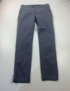 Herren-Ted-Baker-blau-Straight-Leg-Hose-Chino-Casual-Kleid-Groesse-Large-w32-R