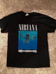 12f060d9 Image is loading Vtg-NIRVANA-Nevermind-Album-Kurt-Cobain-Rock-Band-