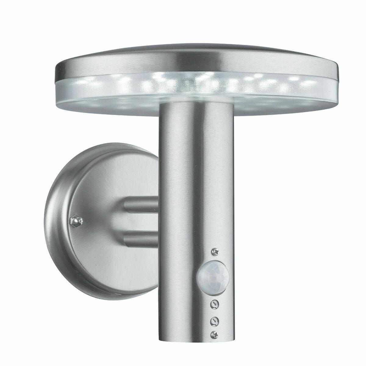 Searchlight 4774 Acero Inoxidable IP44 LED Luz de Parojo Exterior con Sensor De Movimiento
