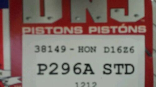 92-95 Honda Civic Del Sol 1.6L SOHC D16Z6 Piston with Ring QTY:1