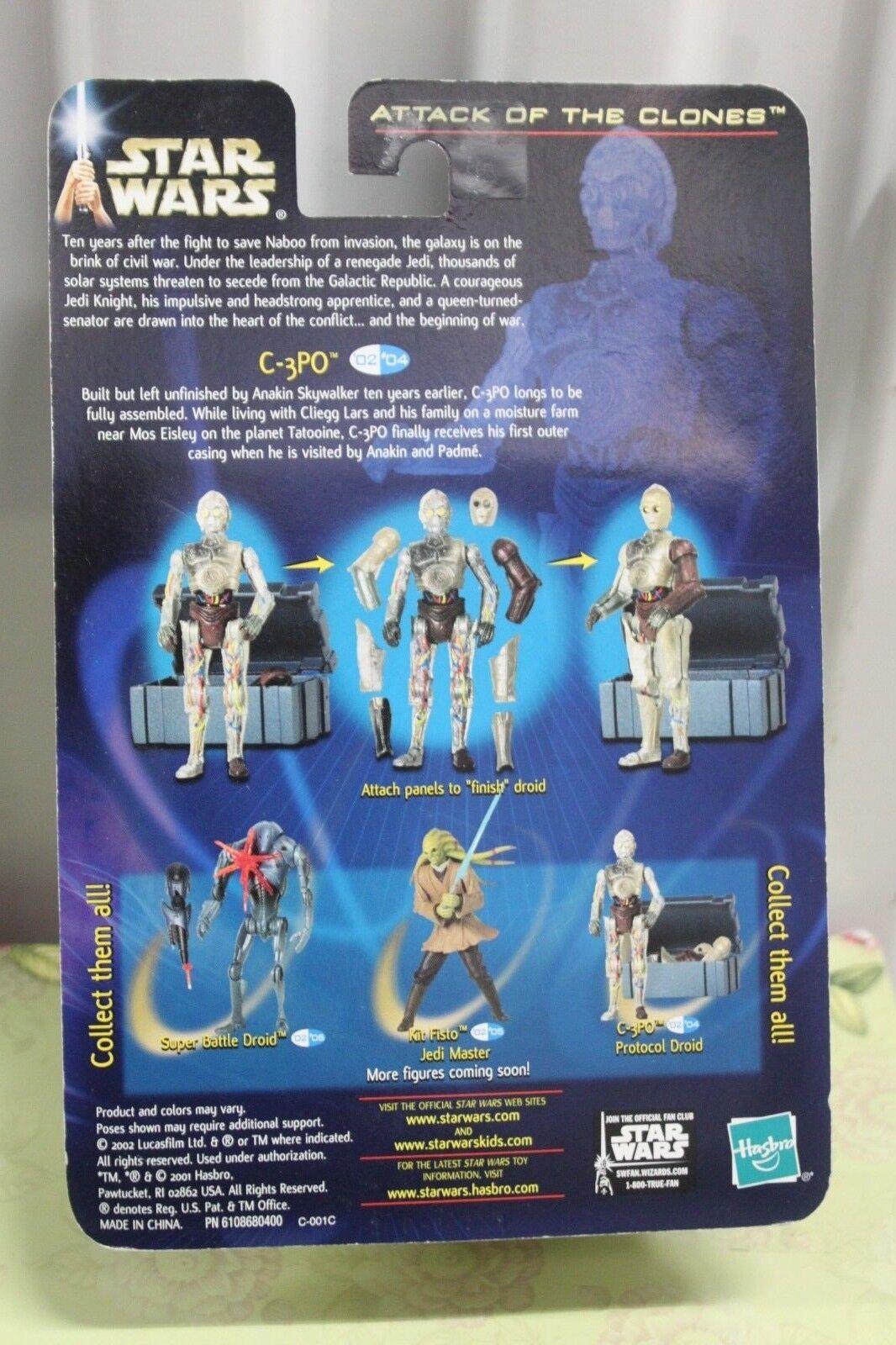 StarWars figurine : C-3po Amovible Panneaux Protocole Droid #4 Star Wars Attaque Clones 84856 2002