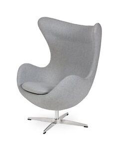 Egg Sessel In Hellgrau Light Grey Egg Chair By Arne Jacobsen Ebay