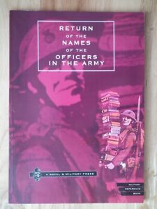 Return-of-the-Names-of-the-Officers-in-the-Army-War-Office-1818-Reprint