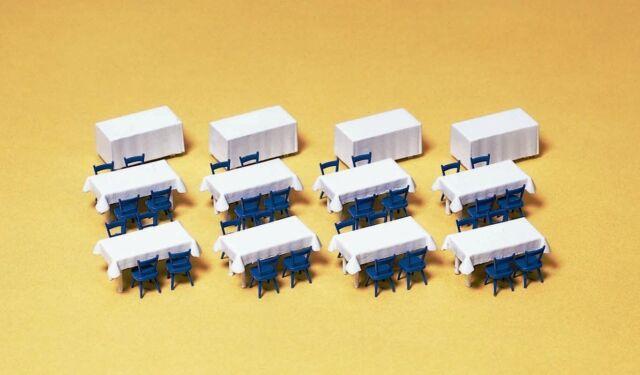 Preiser 17219 tavolo con tovaglie, sedie, Kit di costruzione, H0