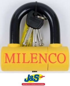 Milenco Motorcycle Scooter Dundrod U Lock /& 12mm Chain 1.8 Metre Securtity Device