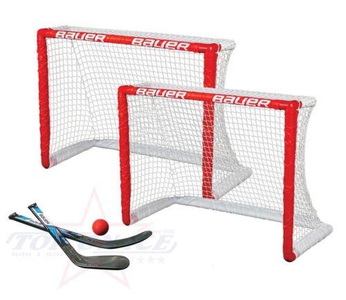 Mini Hockey Tor 2er Set Bauer Inlinehockey Rollhockey Knee Hockey