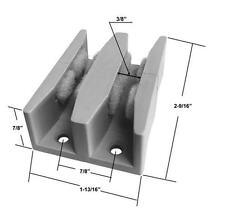 """Shower Door Guide for Frameless Sliding Glass Shower Doors up to 5/16"""" thick"""