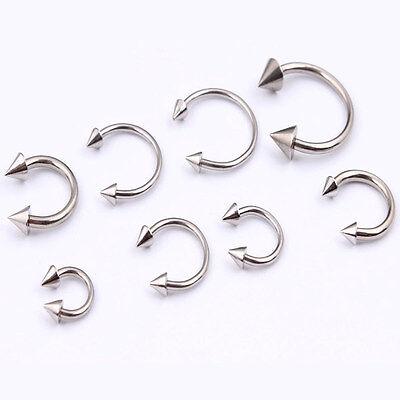4X Surgical Steel Horseshoe Cone Bar Lip Nose Septum Ear Ring Stud Body Piercing