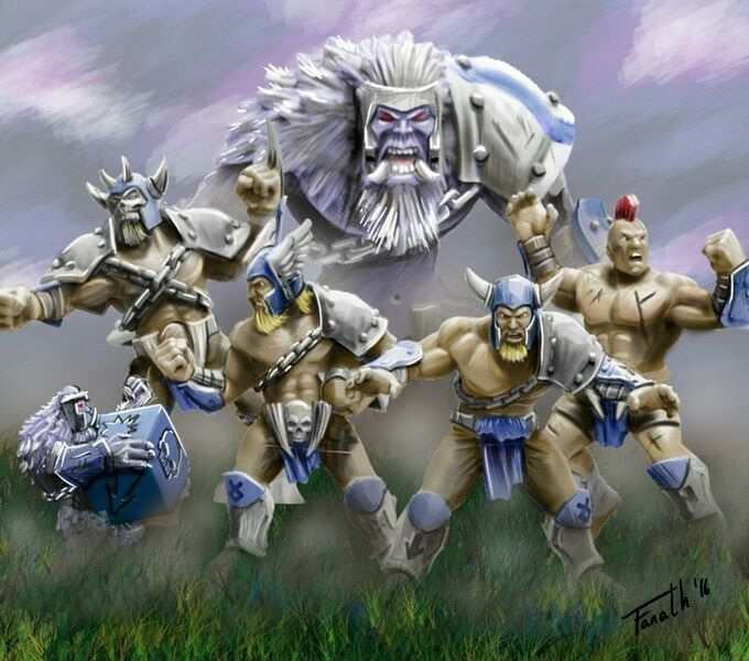 BLOOD BOWL TEAM Hungry-troll miniatures - Propainted Propainted Propainted Commission to Order 77643b