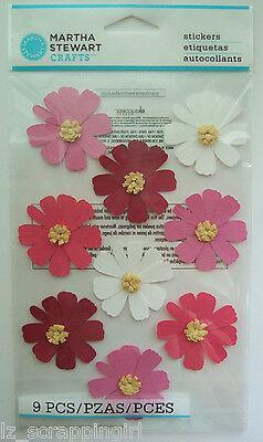 ~PINK WHITE COSMOS~ Stickers MARTHA STEWART CRAFTS; Summer Flowers Floral Blooms