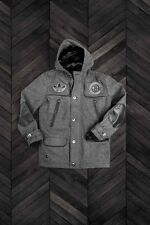 Adidas Dehen Brooklyn Nets Wool Leather Duffle Jacket  XL  Jeremy Scott Y3 Yeezy