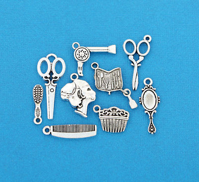 COL060 Gardening Charm Collection Antique Silver Tone 10 Different Charms