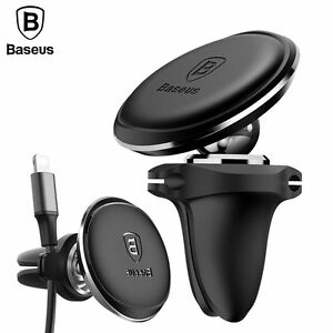 Baseus-Universal-Air-Vent-Phone-Holder-Car-Magnetic-Mount-Stand-amp-Wire-Holder