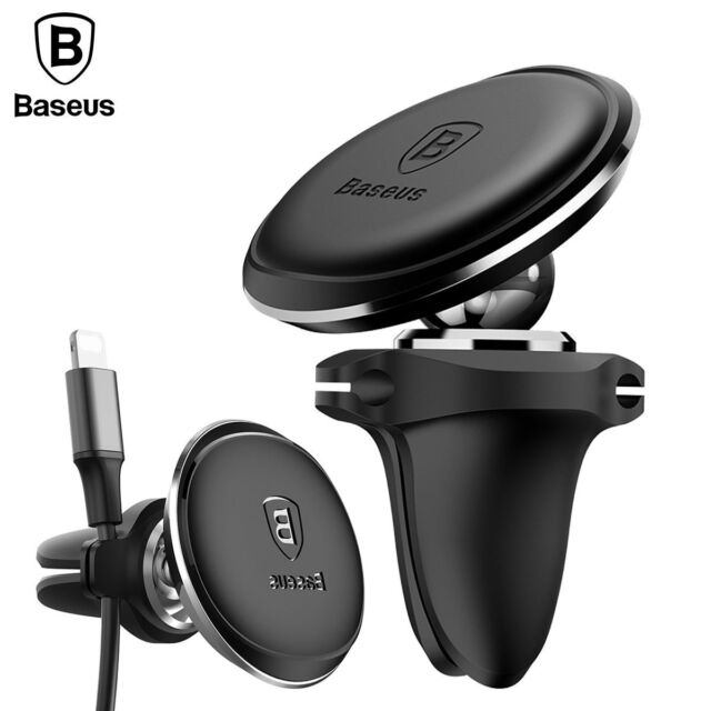 Baseus Universal Air Vent Phone Holder Car Magnetic Mount Stand & Wire Holder
