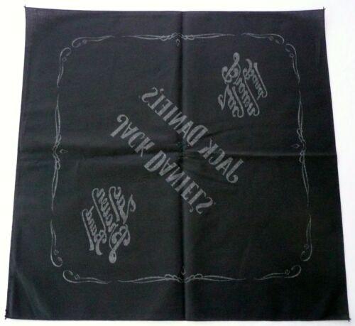"ZAC BROWN BAND JACK DANIEL/'S BANDANA Black 21.5/"" Handkerchief Scarf />NEW/<"